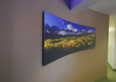 8 foot curved piece on wall