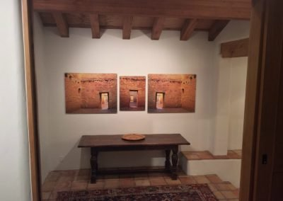 Triptychs installed on wall