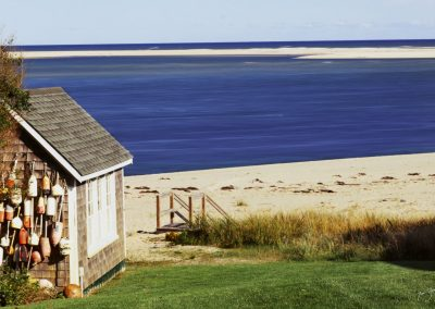 Shed next to beach