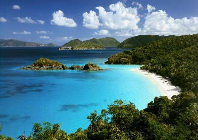 Crystal clear beach in the Virgin Islands