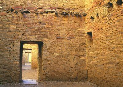 Brick wall with doorways