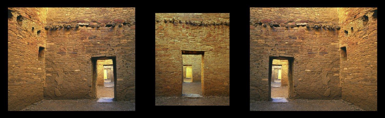 Chaco door triptych